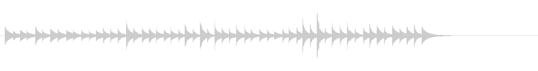 松虫8早めキラキラ鉄琴アジアン和風歌舞伎の未再生の波形