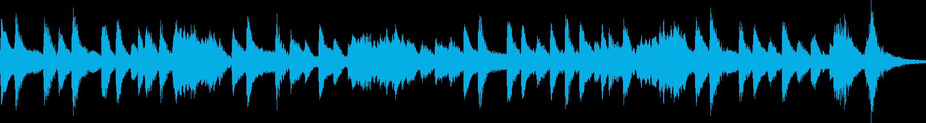 マリンバの爽やかで楽しい響きのOPの再生済みの波形