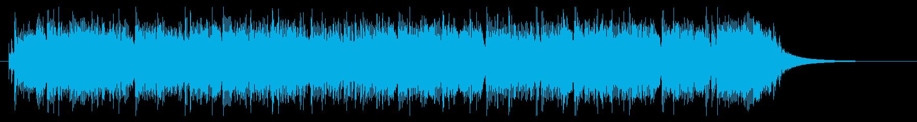 ギターとベースがユニゾンするハードロックの再生済みの波形