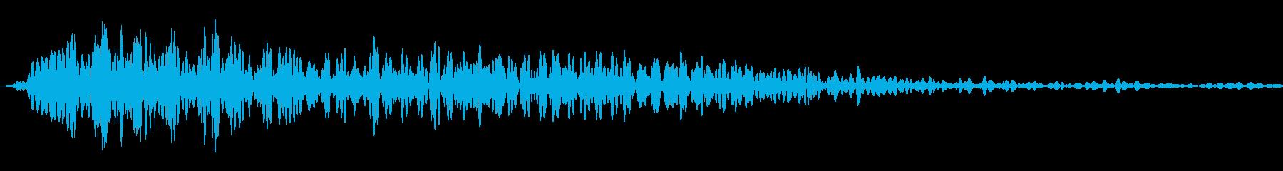 ホラー系のタイトルスタート音等にの再生済みの波形