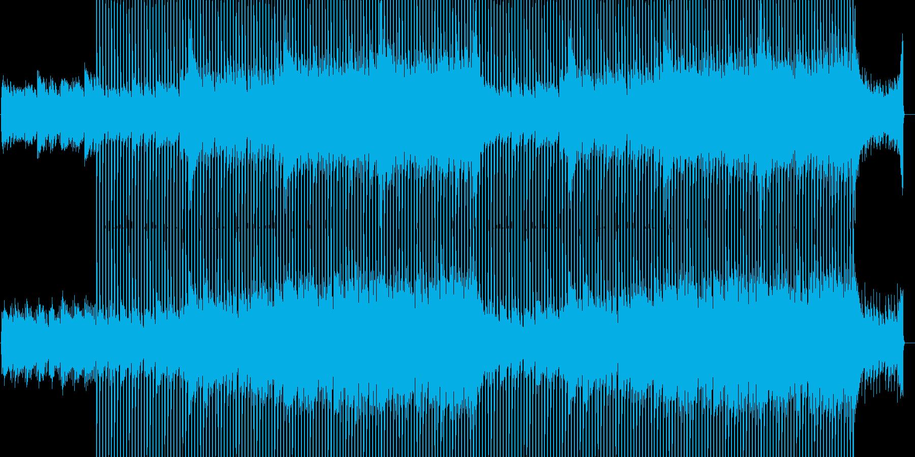 企業VP向け、爽やかポップ4つ打ち4の再生済みの波形