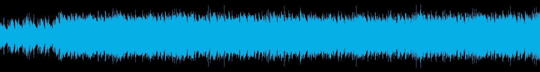 映画やTV番組用のパワフルでワイルドな曲の再生済みの波形