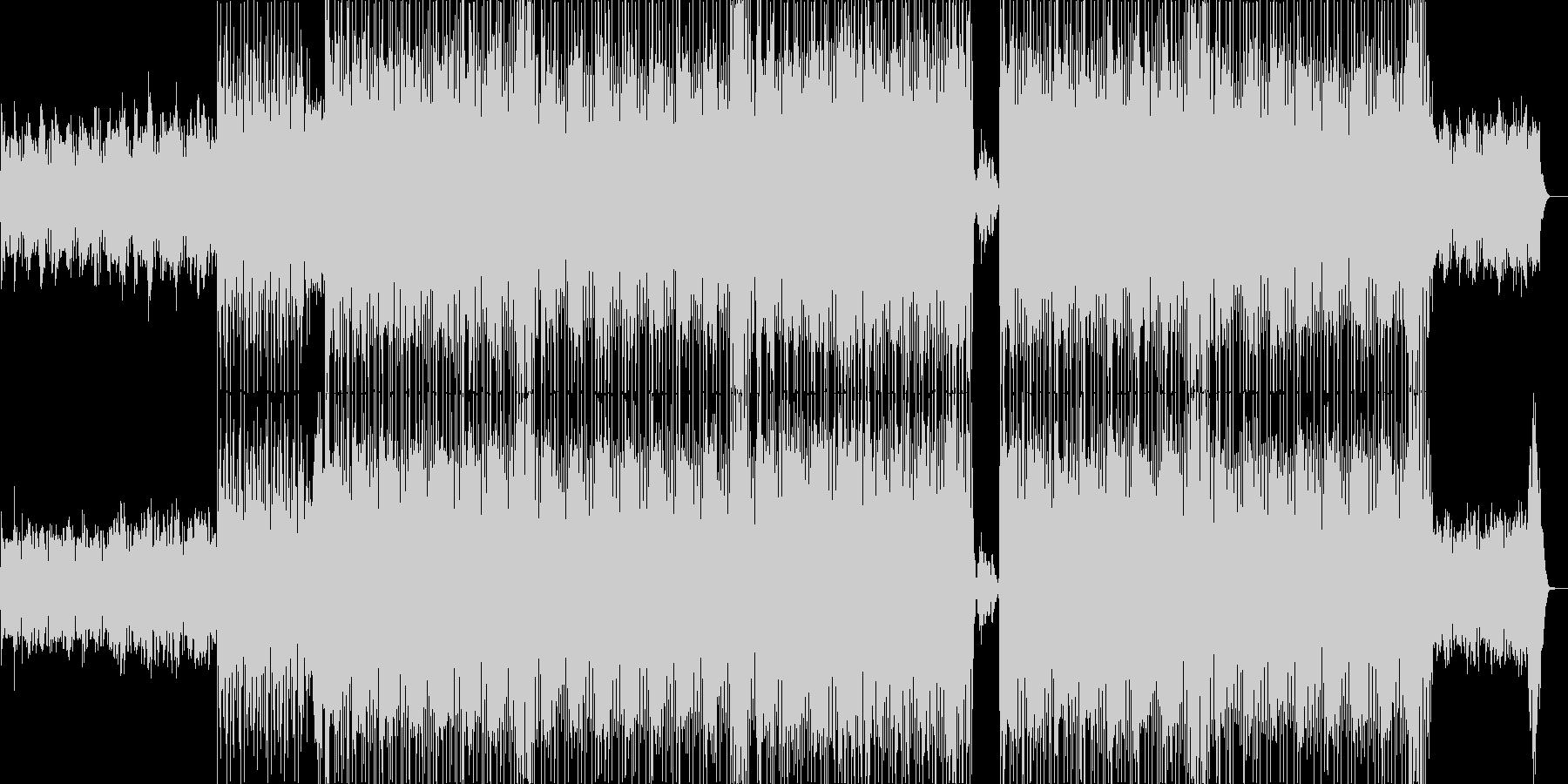 はじけるシンセサイザーハウス系サウンドの未再生の波形