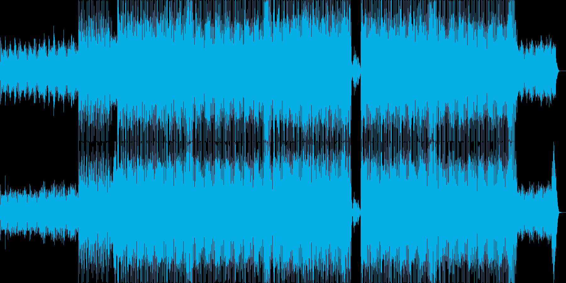 はじけるシンセサイザーハウス系サウンドの再生済みの波形