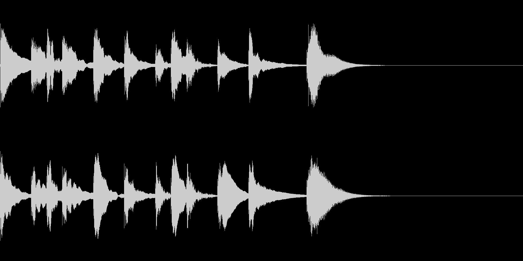 子供向け番組っぽい木琴の3秒ジングルの未再生の波形