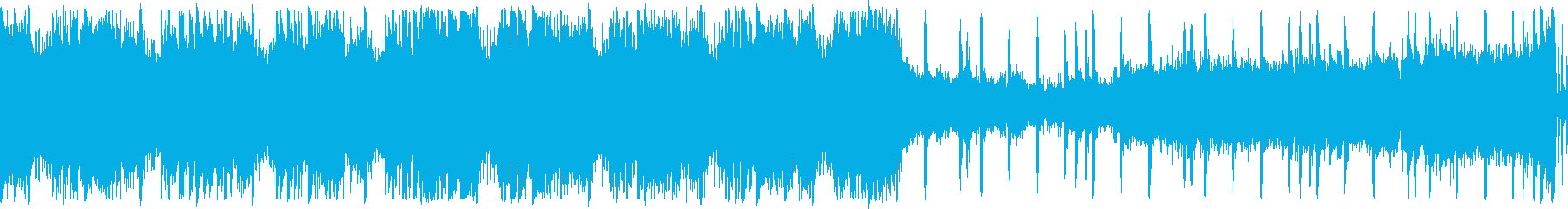 【ループ】迫力クラップ&ストンプ&ギターの再生済みの波形