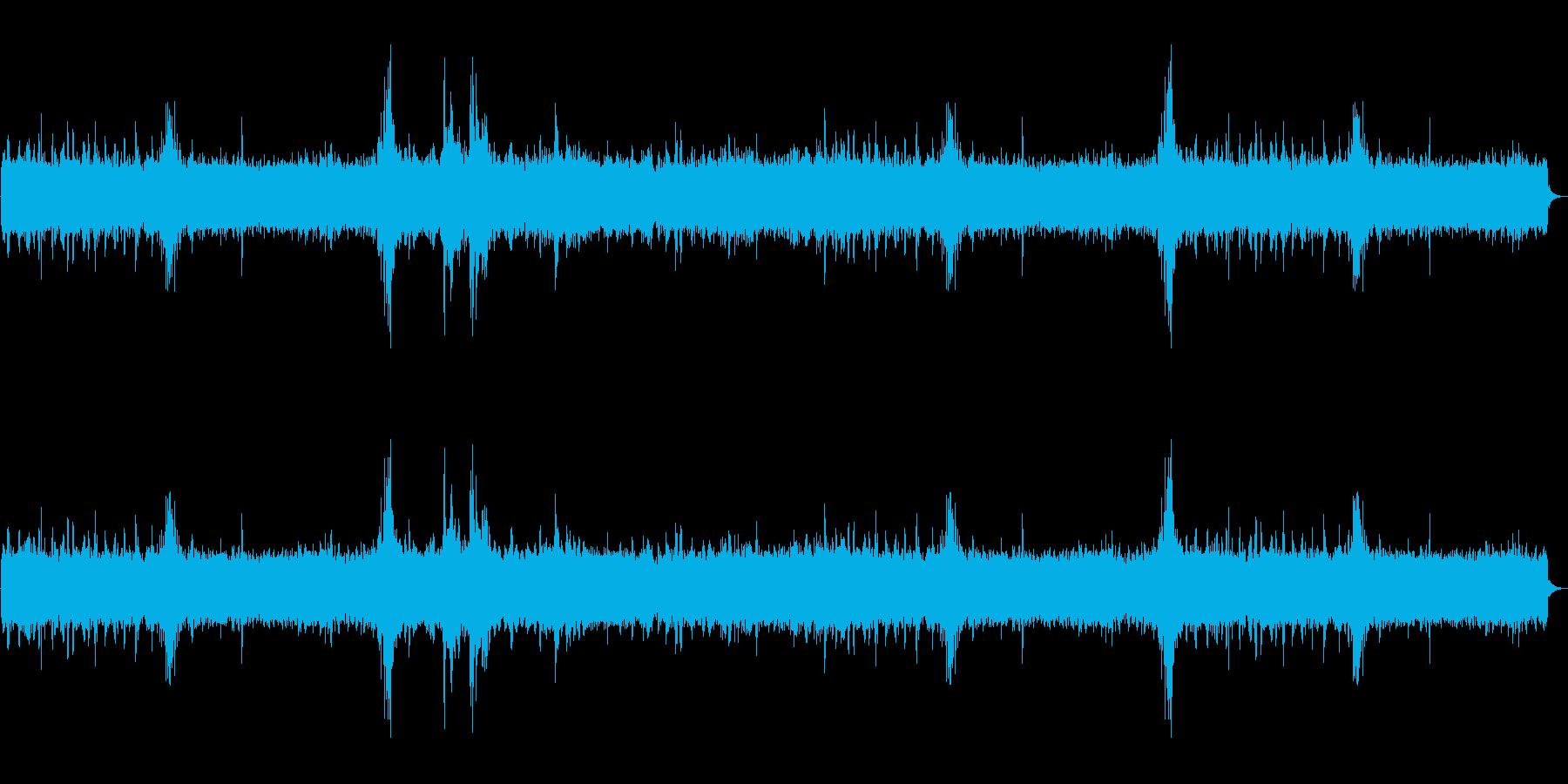 天気 雷雨01の再生済みの波形