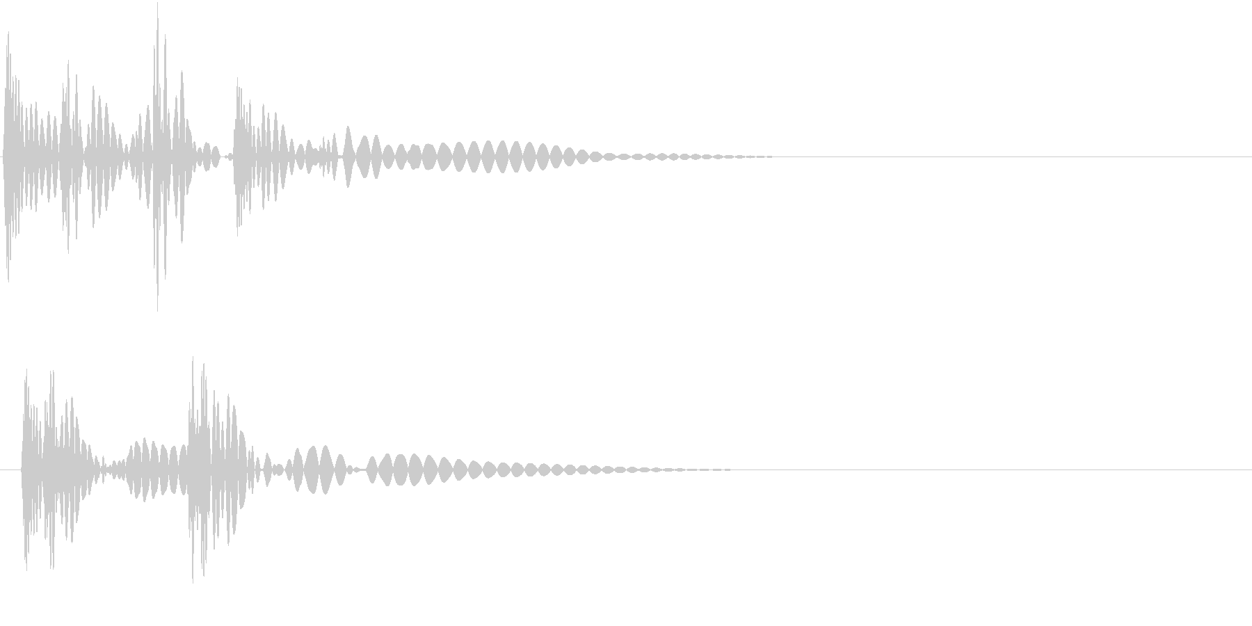 HeartBeat 心臓の音 6 単発の未再生の波形