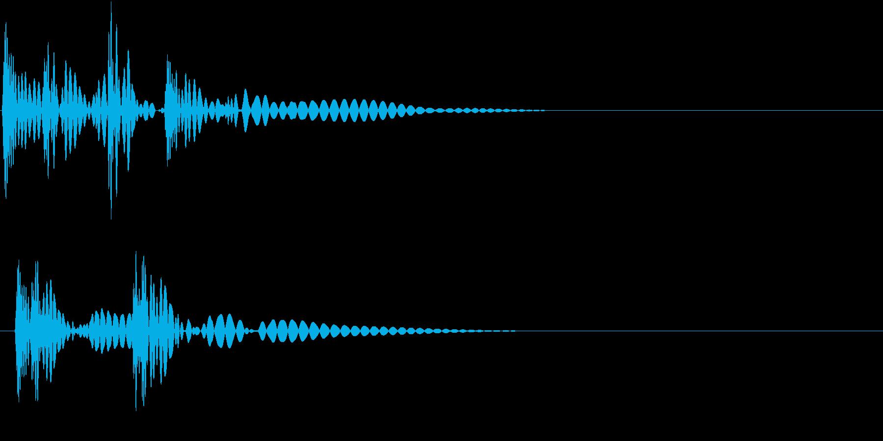 HeartBeat 心臓の音 6 単発の再生済みの波形