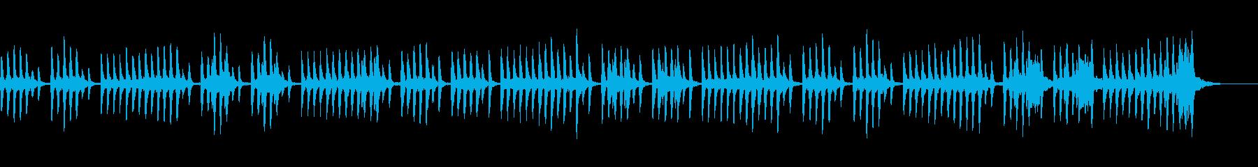 ヘンなのに可愛いほのぼのとしたマリンバの再生済みの波形