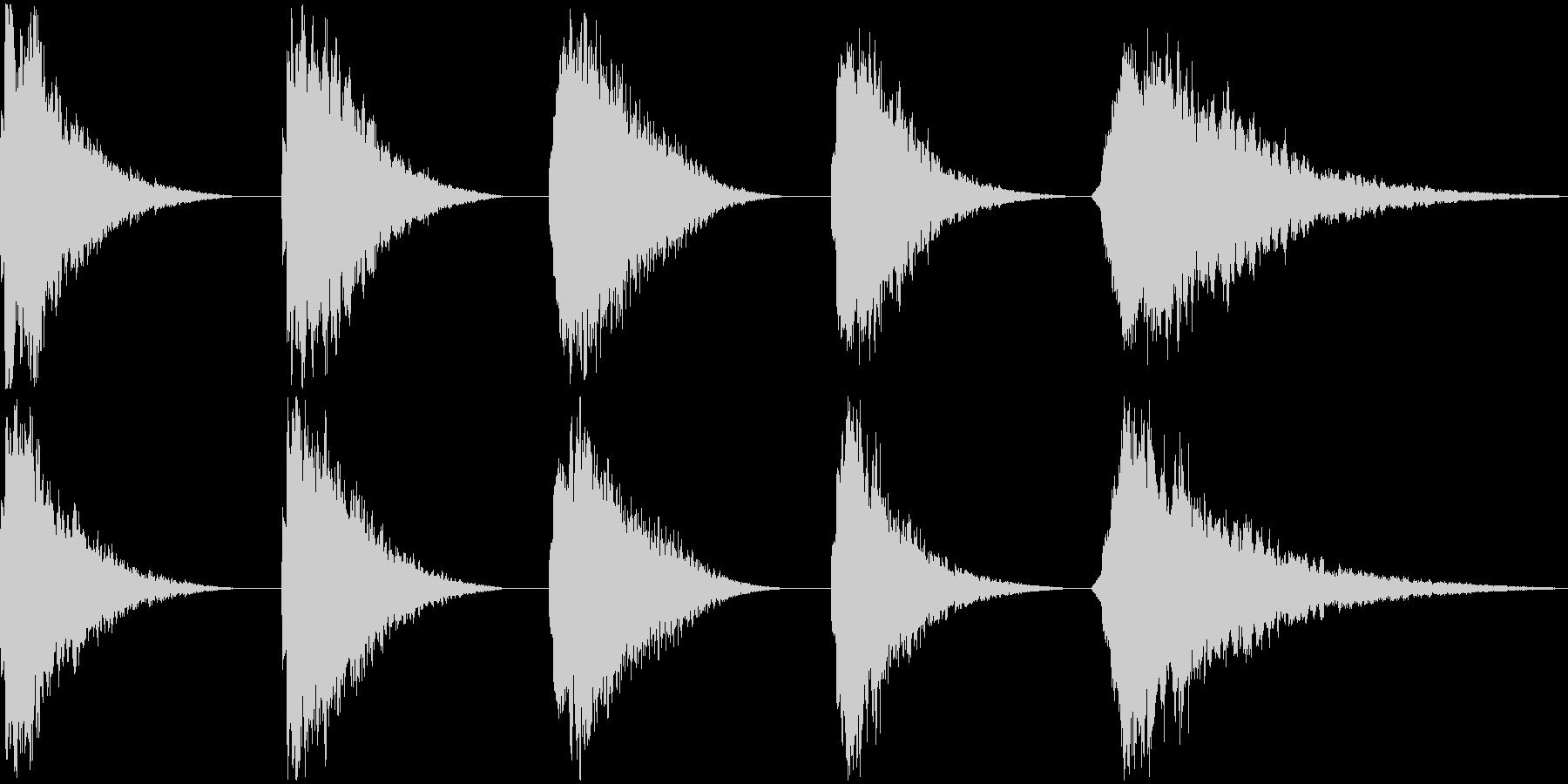 REZO BELL、5バージョン、...の未再生の波形