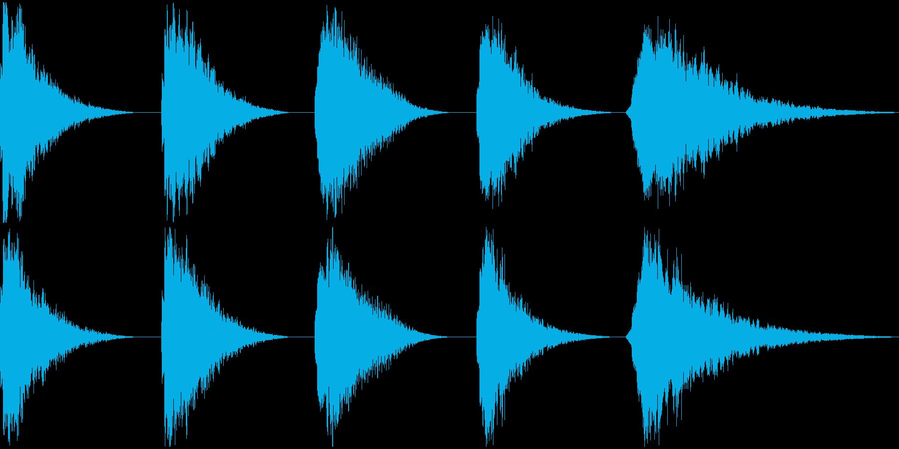 REZO BELL、5バージョン、...の再生済みの波形
