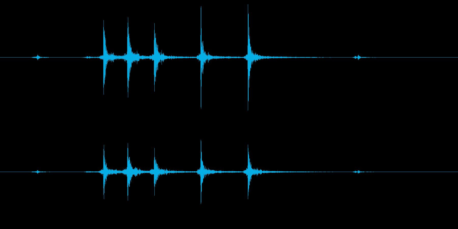 カッターの刃を出すの再生済みの波形