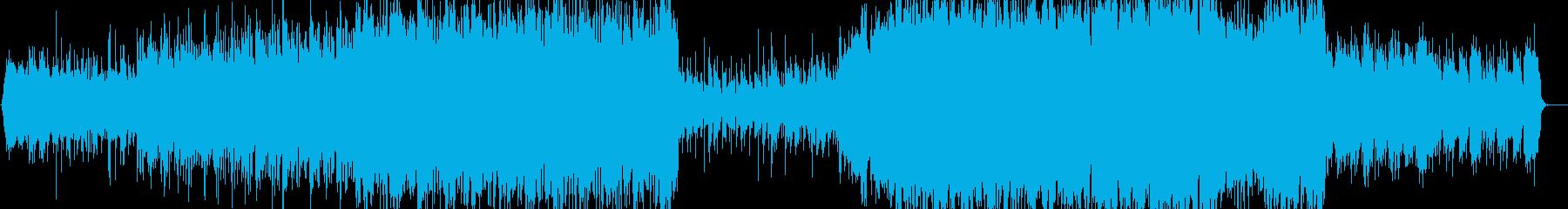 シンセサイザーの音と重厚なオーケストラ系の再生済みの波形