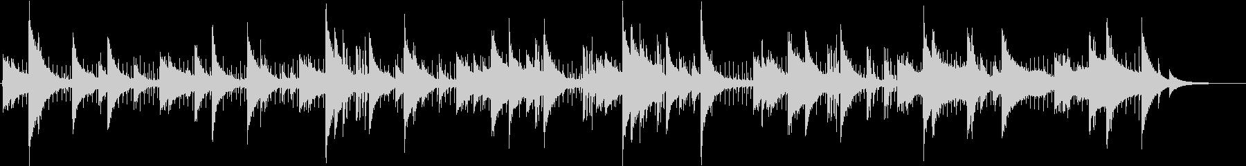 ジャズ風のピアノミニマルミュージックの未再生の波形