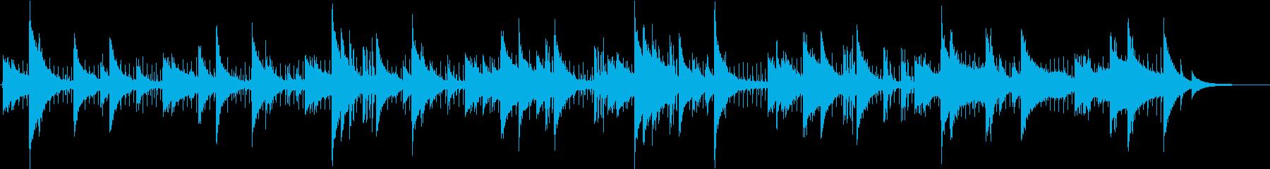 ジャズ風のピアノミニマルミュージックの再生済みの波形