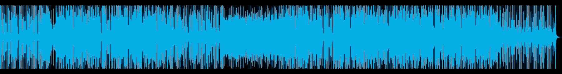ベースムーンバートン風ダンスミュージックの再生済みの波形