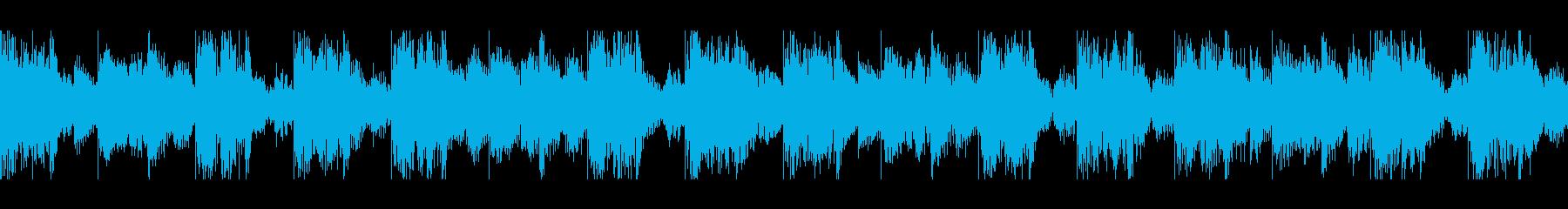 少しダークなループの再生済みの波形