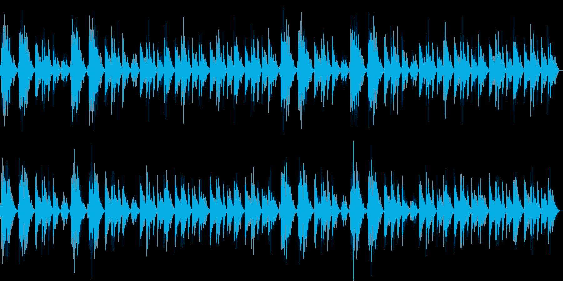 静かなリラクゼーションミュージックの再生済みの波形