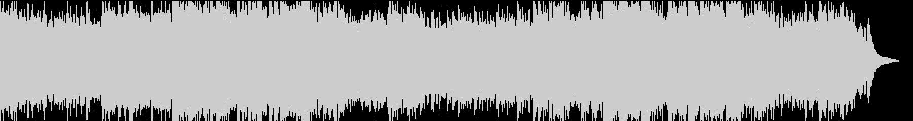 暗いホラーな雰囲気のBGMの未再生の波形