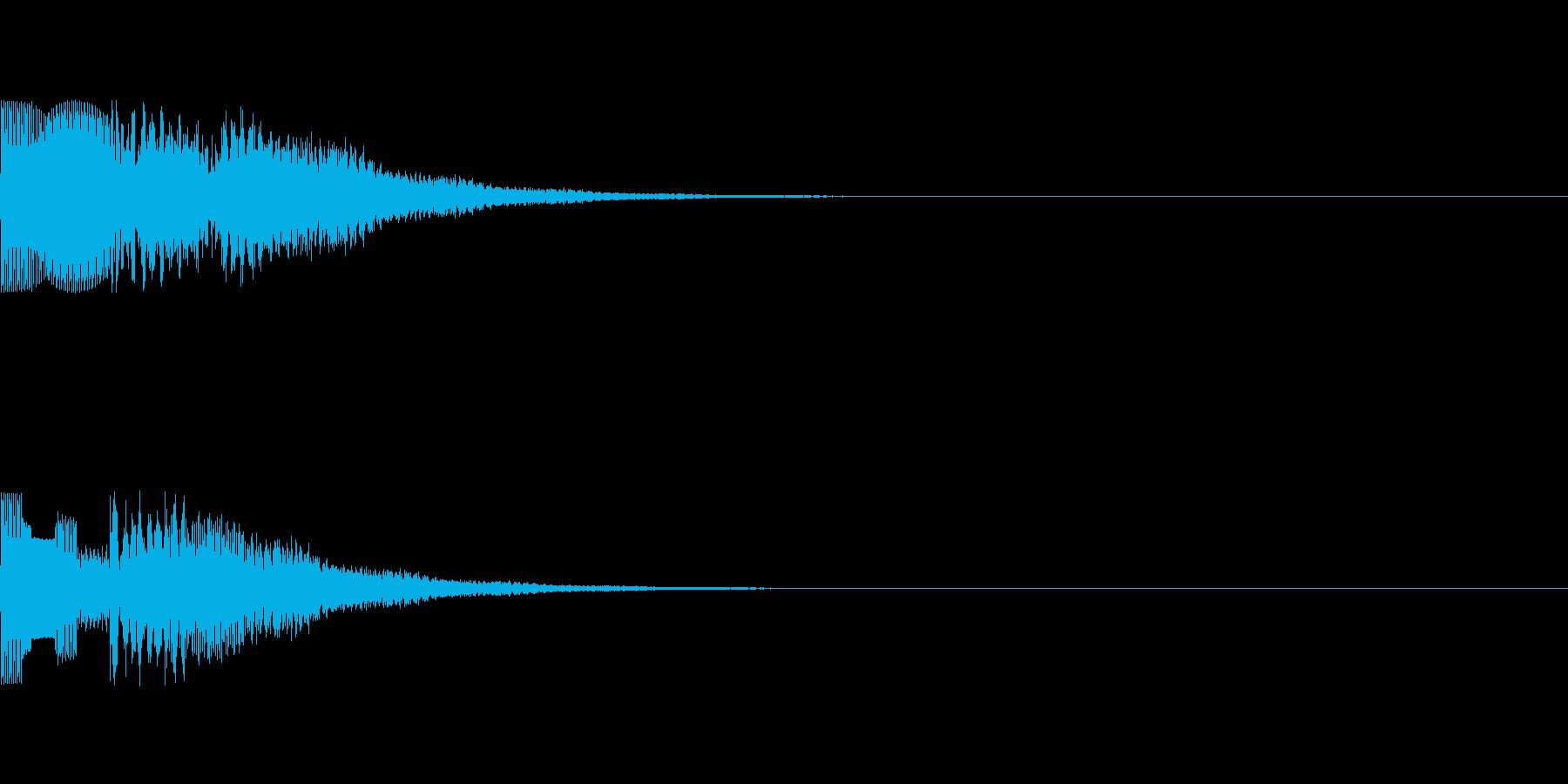カジノ 設定画面、プレイ画面選択音の再生済みの波形