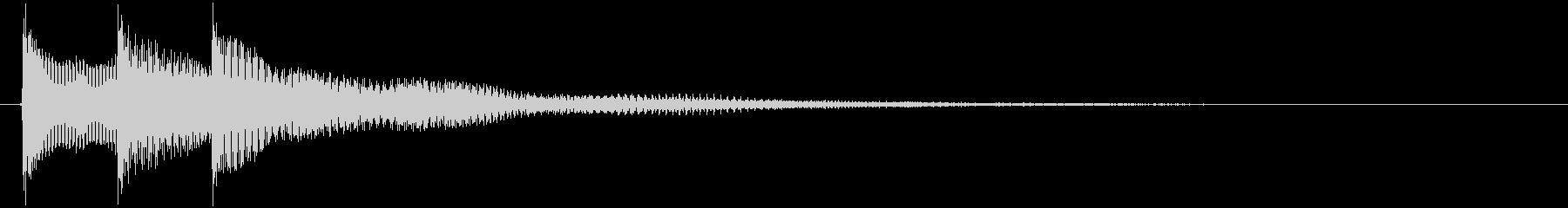 チャラリン(お知らせアラート音ベル)の未再生の波形