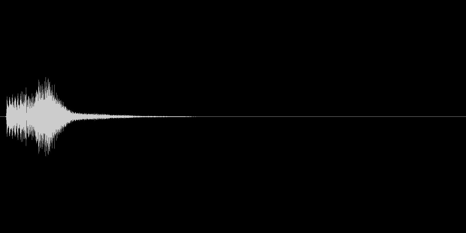 パズルゲームの連鎖における1段階目の音の未再生の波形