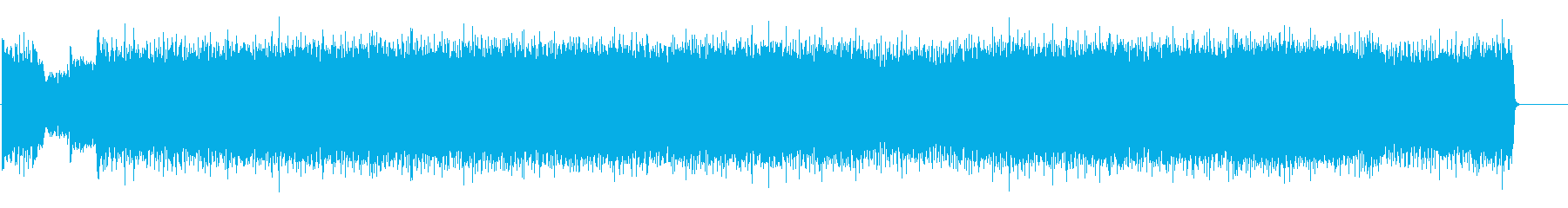 豪快でスピーディーなヘヴィーメタルの再生済みの波形