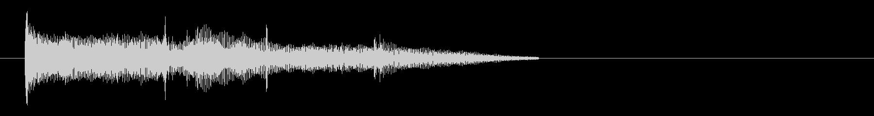 金属製の物を放り投げる効果音 01の未再生の波形