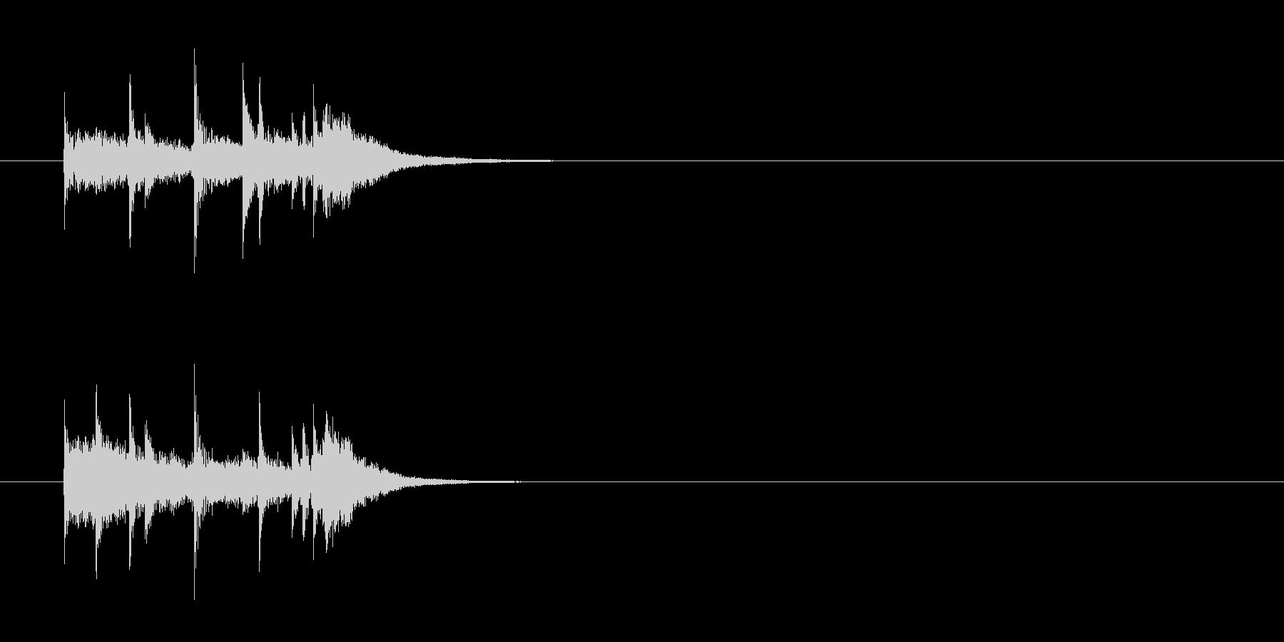 ジングル(クイズ番組風)の未再生の波形