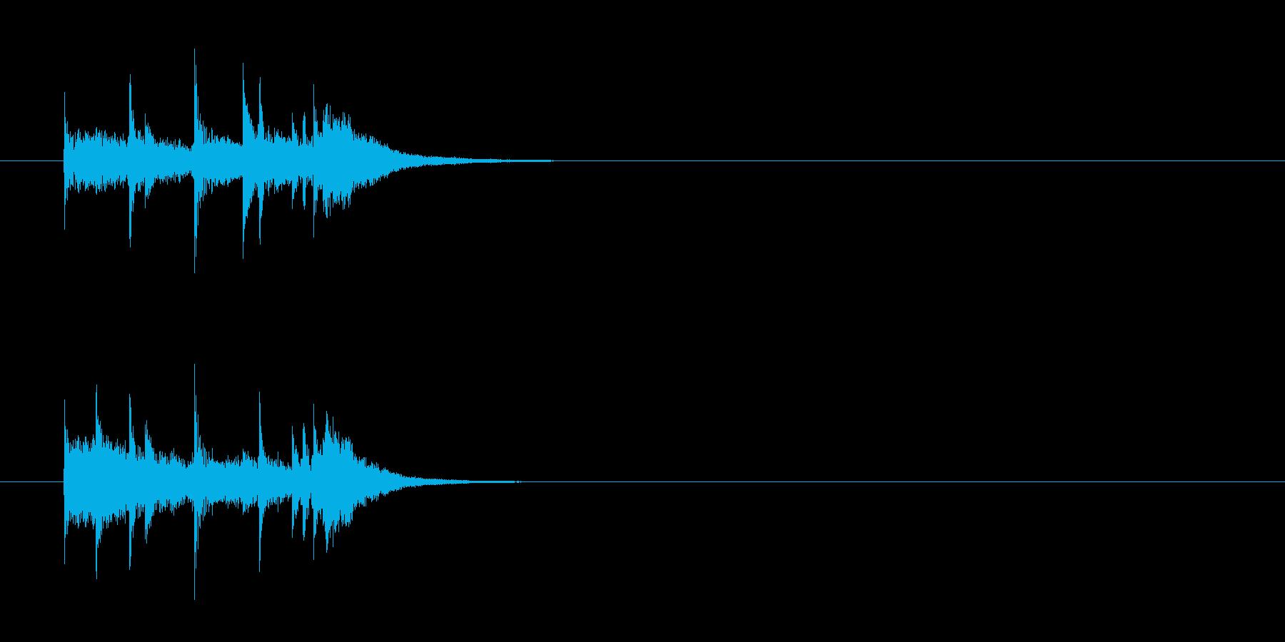 ジングル(クイズ番組風)の再生済みの波形