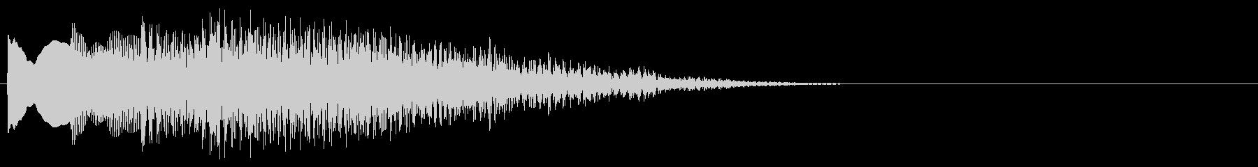 マレット系 決定音14(大)の未再生の波形
