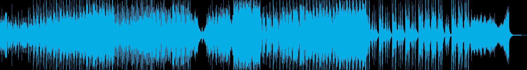 ホラー・怪談シーンに適したBGM 短尺の再生済みの波形