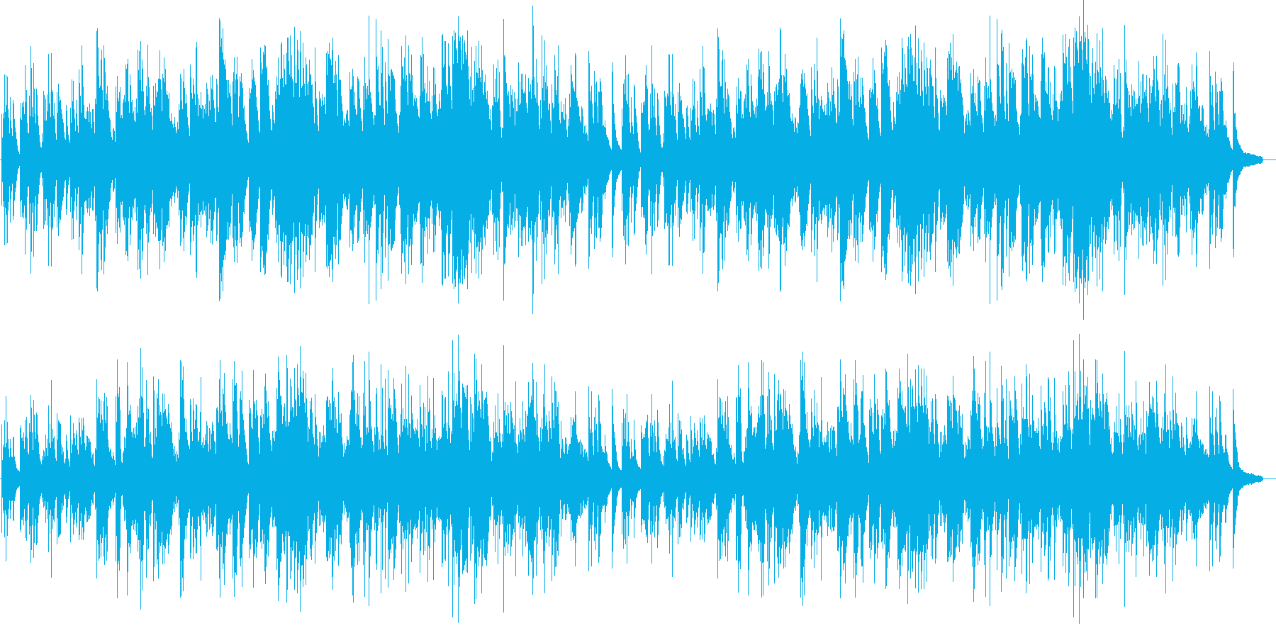 優しい 心温まる ピアノソロの再生済みの波形