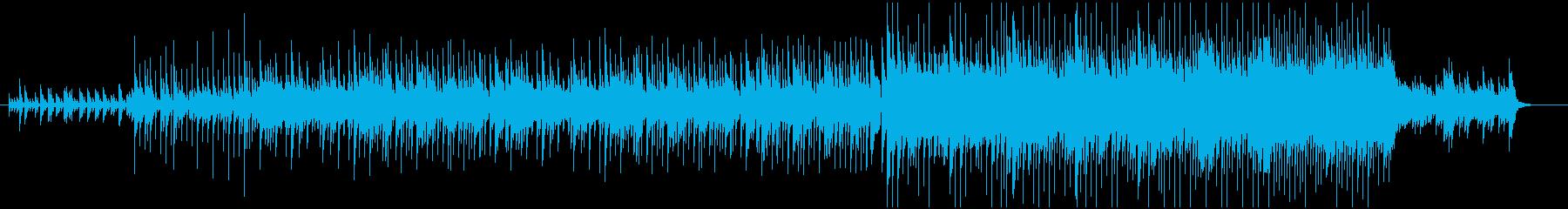 和風で爽やかなミュージックの再生済みの波形