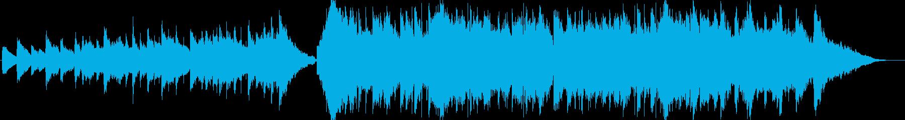 エンディング向きの爽やかな感動系の再生済みの波形
