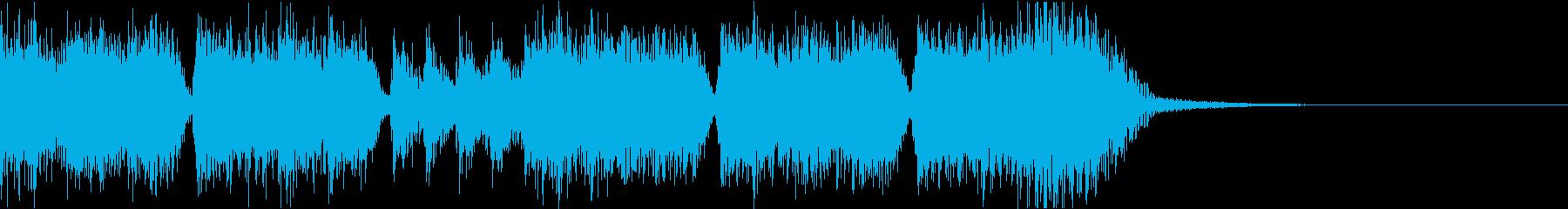 エネルギッシュ・ロックなサウンドロゴ04の再生済みの波形