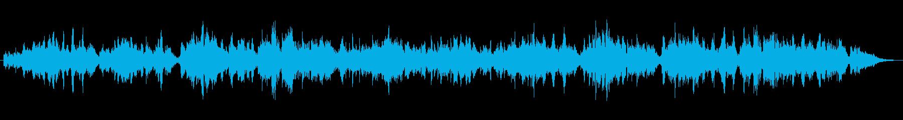 二胡の生演奏による優しくゆったりした曲の再生済みの波形
