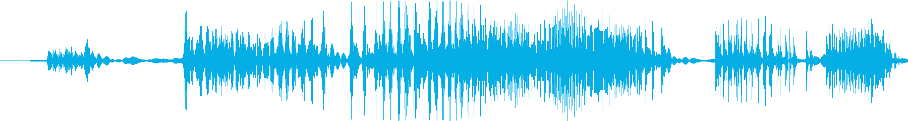 ジジジ(錆びたジッパーをスライドする音)の再生済みの波形