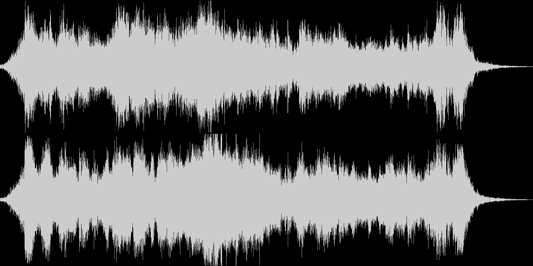 シネマチックなオープニング用BGMの未再生の波形