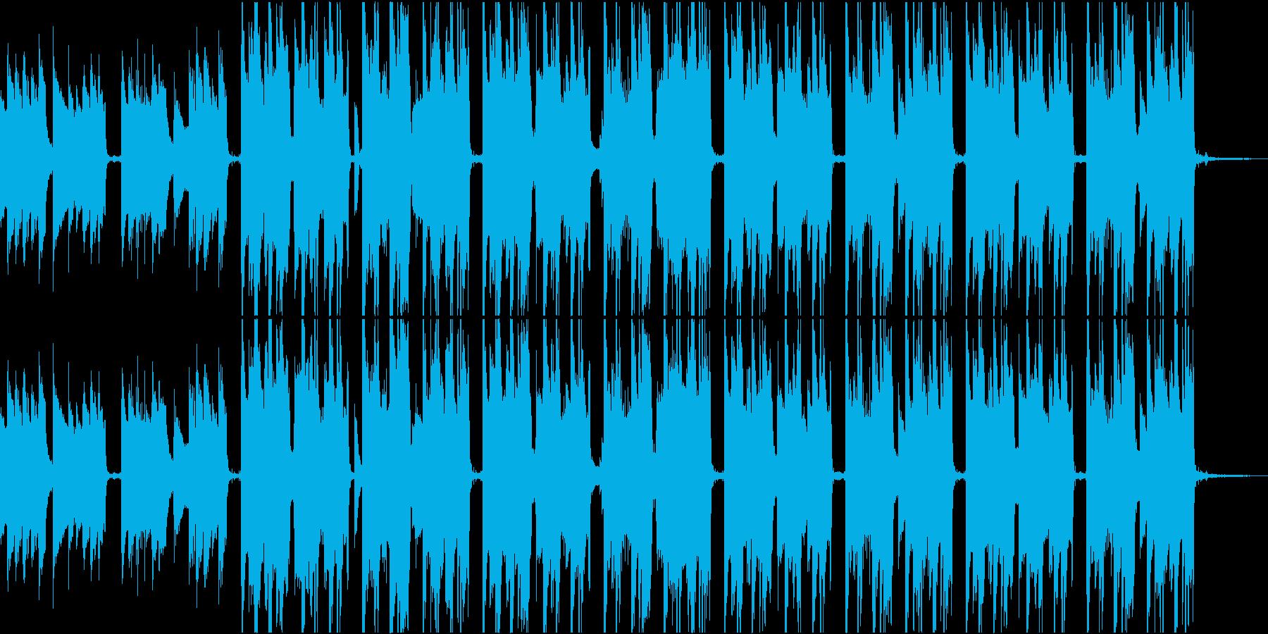 Lo-FiでおしゃれなゆったりしたBGMの再生済みの波形