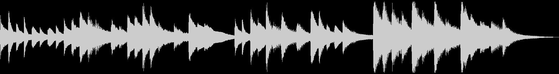 短いソロピアノのジングル曲2の未再生の波形