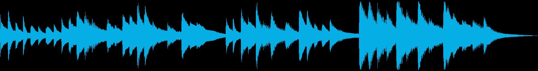 短いソロピアノのジングル曲2の再生済みの波形