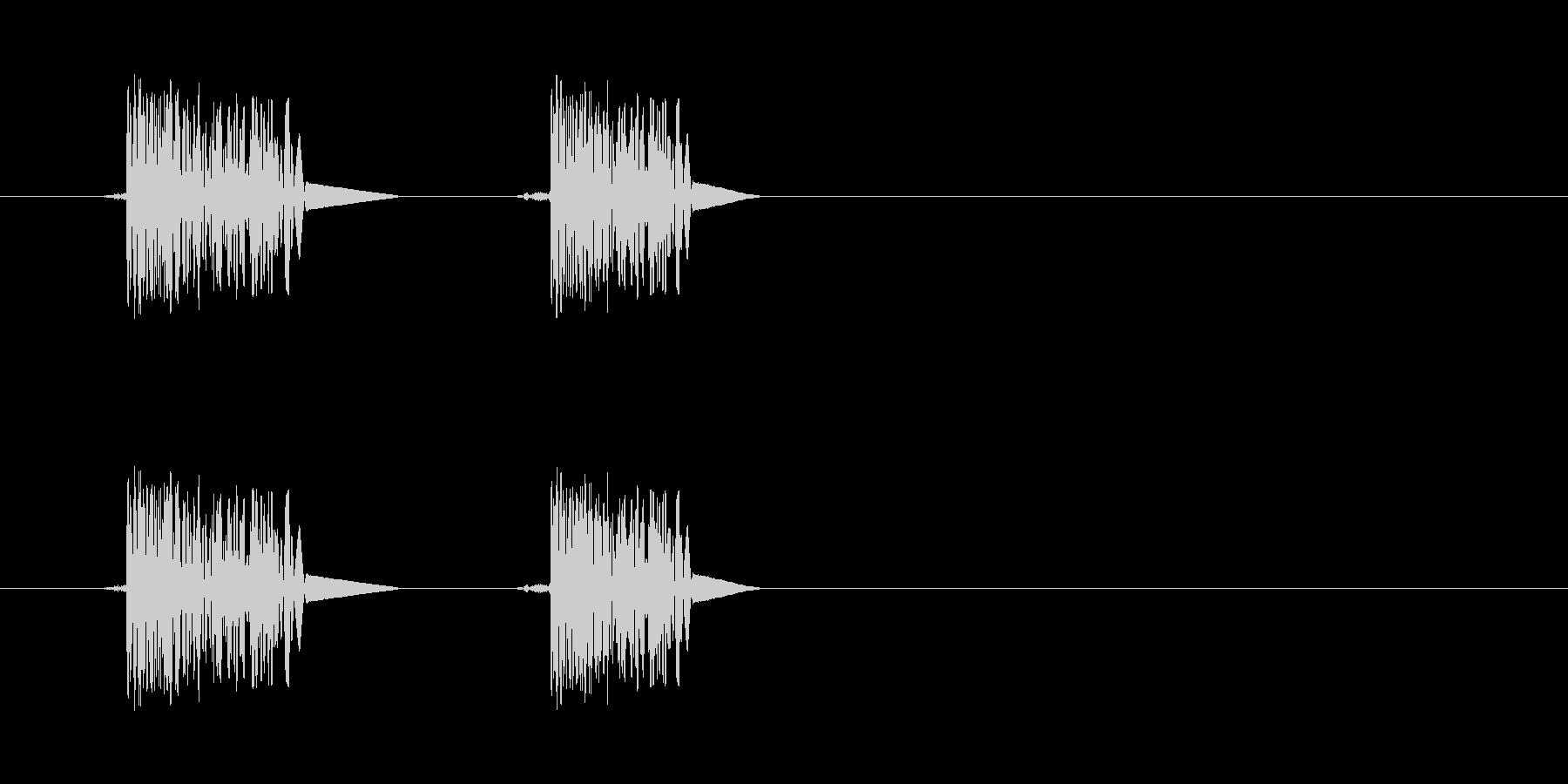 ファミコン系歩く音03 ループの未再生の波形