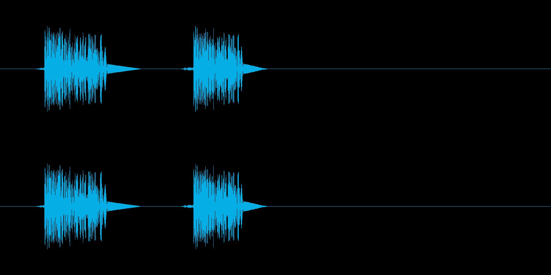 ファミコン系歩く音03 ループの再生済みの波形