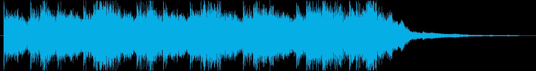 戦闘シーンを意識したインスト曲の再生済みの波形
