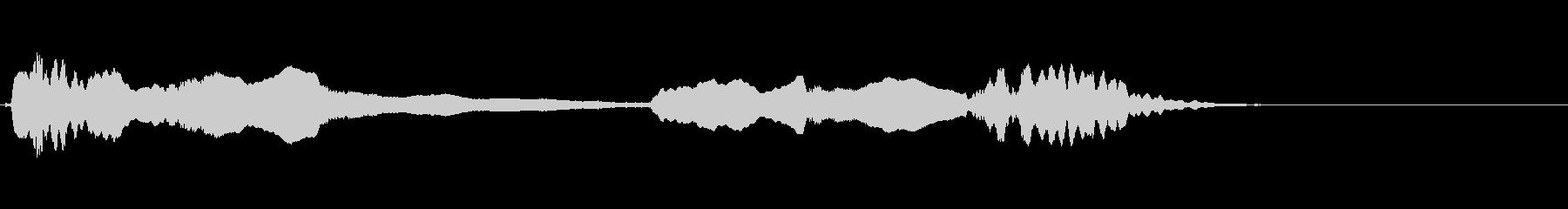 尺八を使ったゆったりとムードあるジングルの未再生の波形