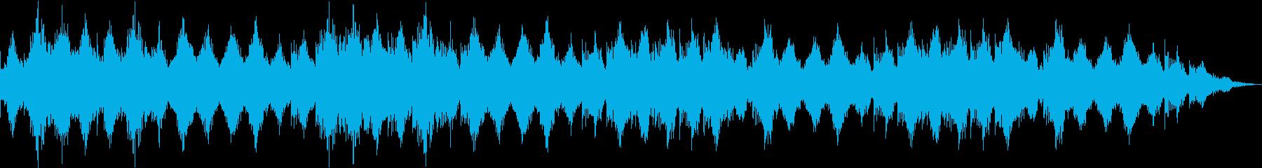 444Hzにチューニングされた癒やしの音の再生済みの波形