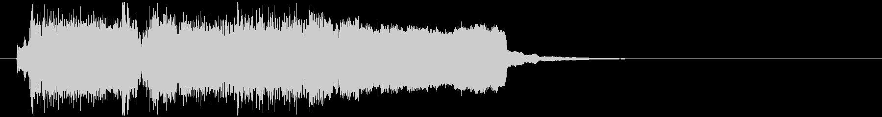 クラリネット生演奏の綺麗系サウンドロゴの未再生の波形