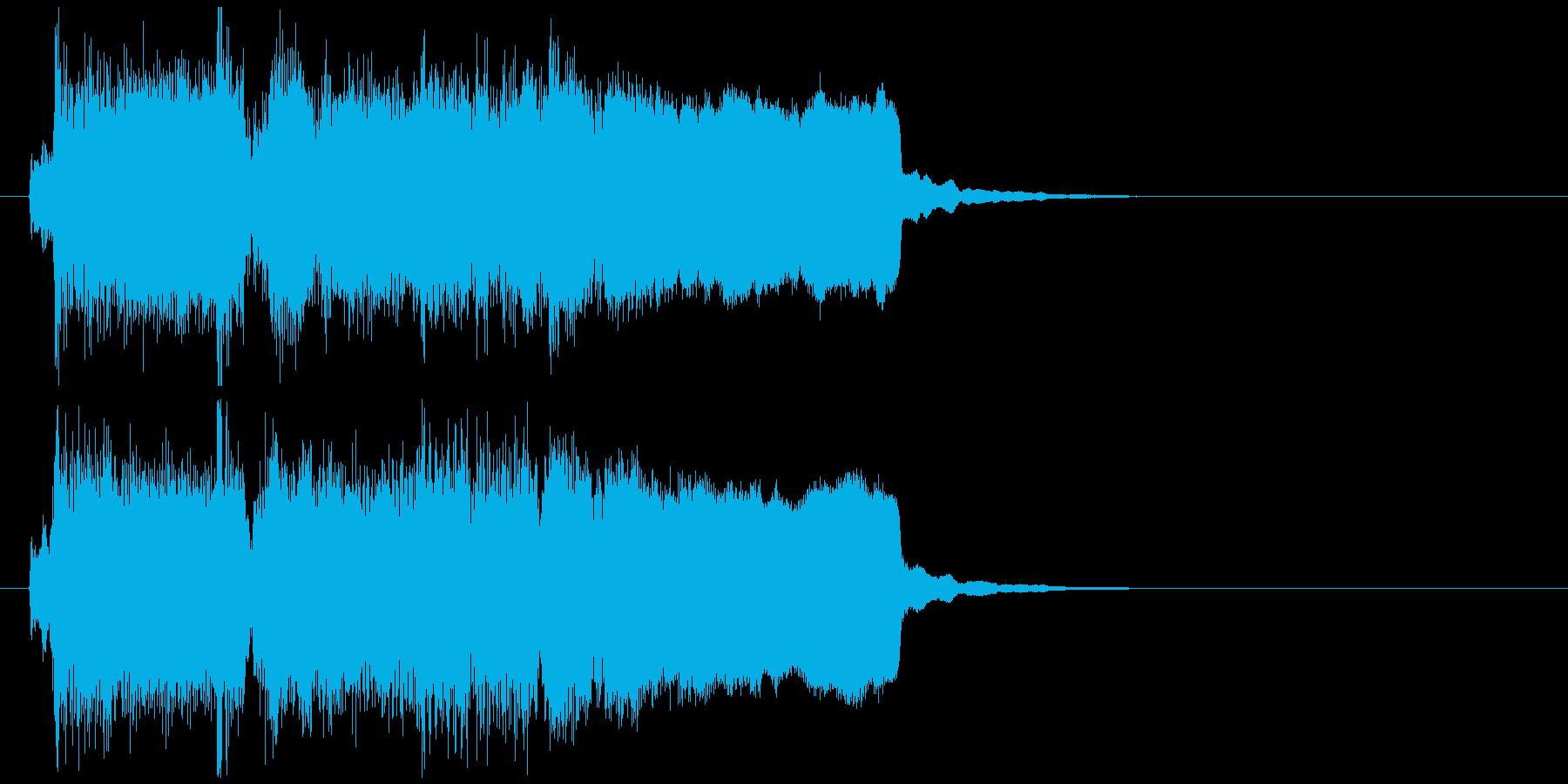クラリネット生演奏の綺麗系サウンドロゴの再生済みの波形